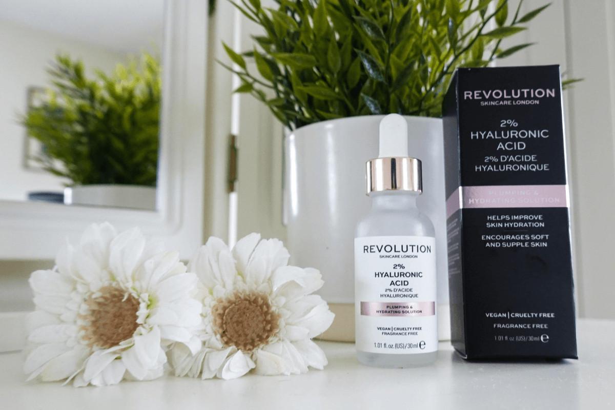 Revolution hyaluronic acid bottle and box